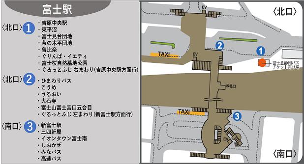 富士駅乗り場